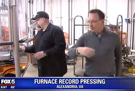 Fox 5 DC Visits Furnace Record Pressing