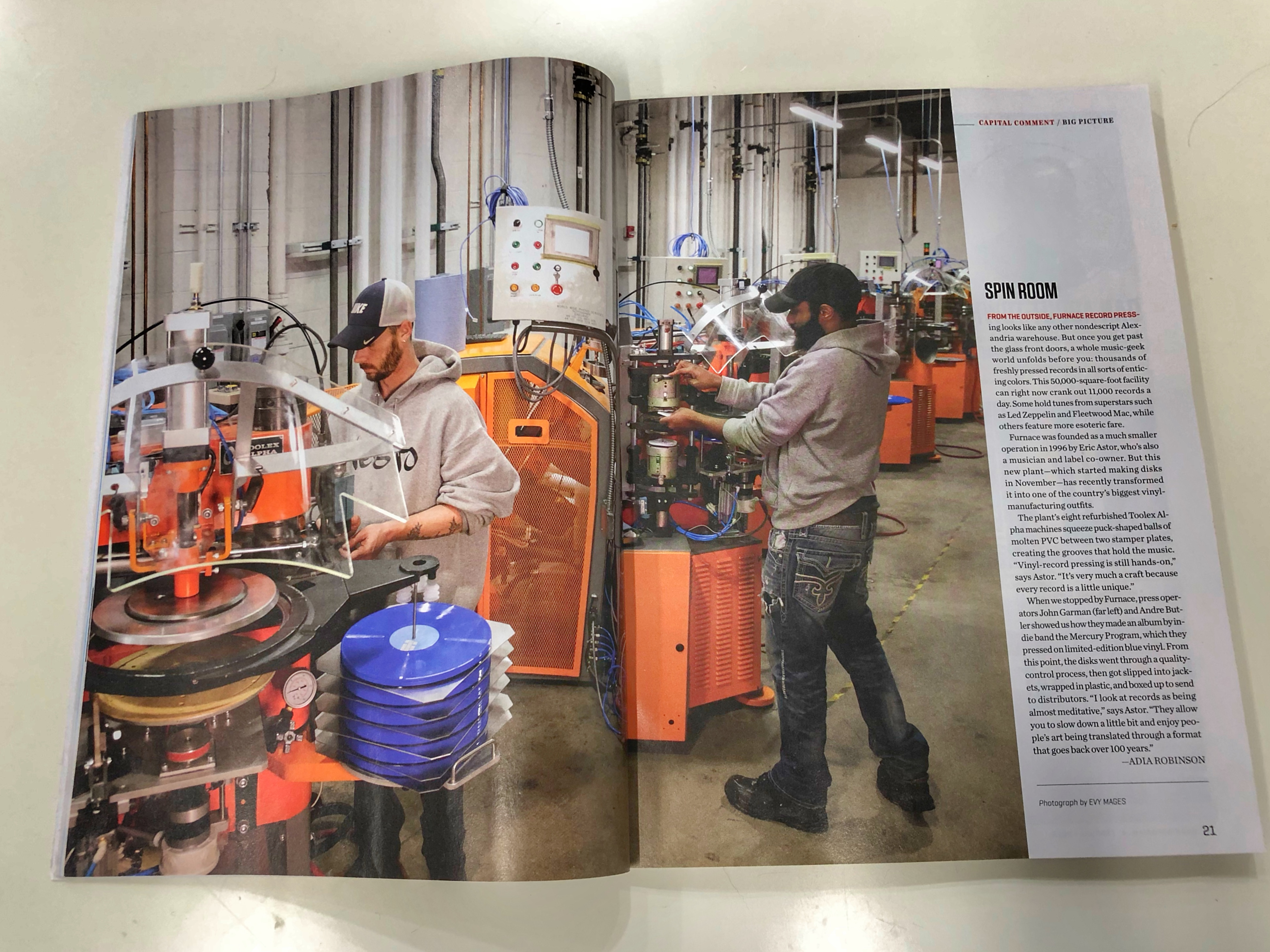 Fancy! Washingtonian Magazine came by to see how we make the donuts…